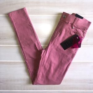 NWT Thrill Pink Skinny Jeans